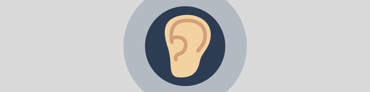 聴覚のマーク