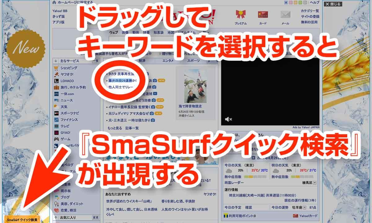 SmaSurf 検索機能の使い方